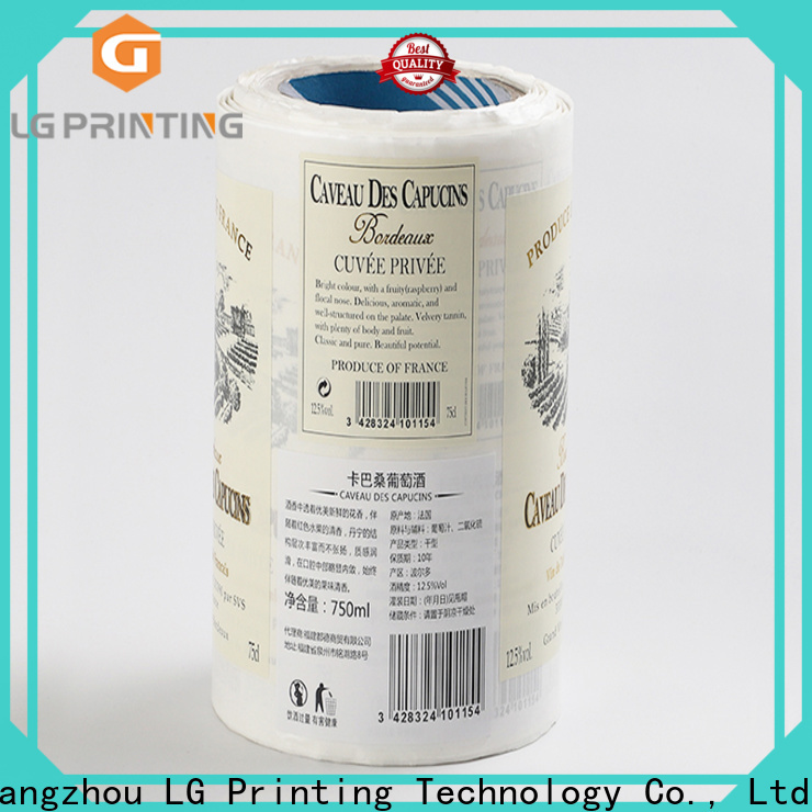 LG Printing pvc thermal printing labels factory for cans