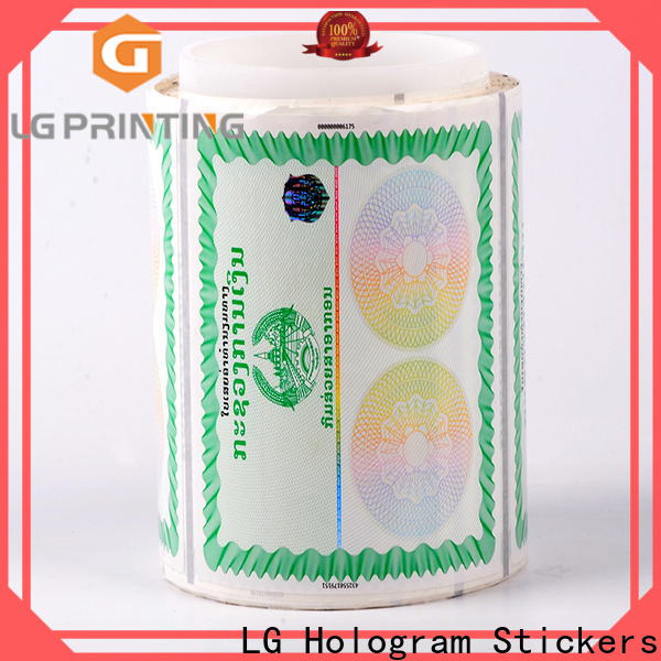 LG Printing paper hologram manufacturers in india factory for box