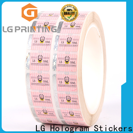 LG Printing positioned clear security stickers factory for goods