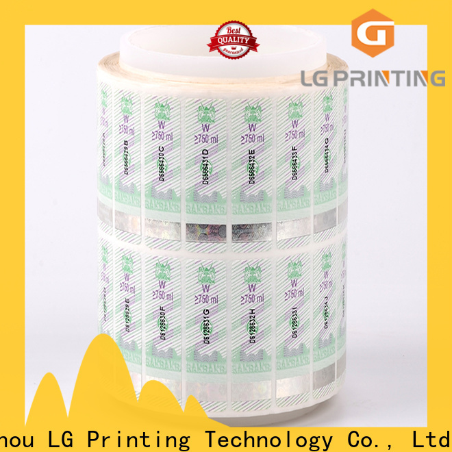 LG Printing serial security labels stickers manufacturer for bag
