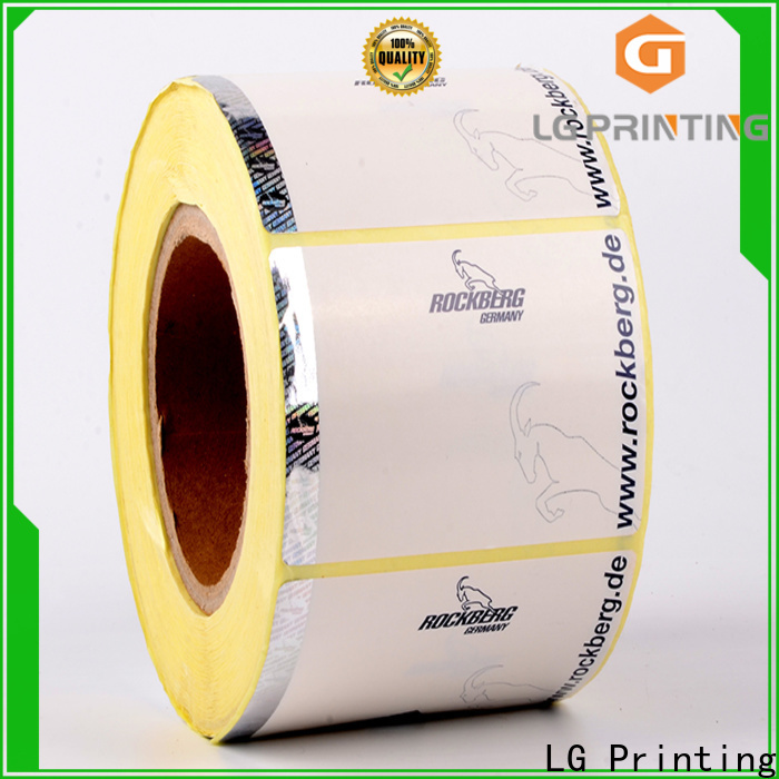 LG Printing foil custom security stickers factory for box