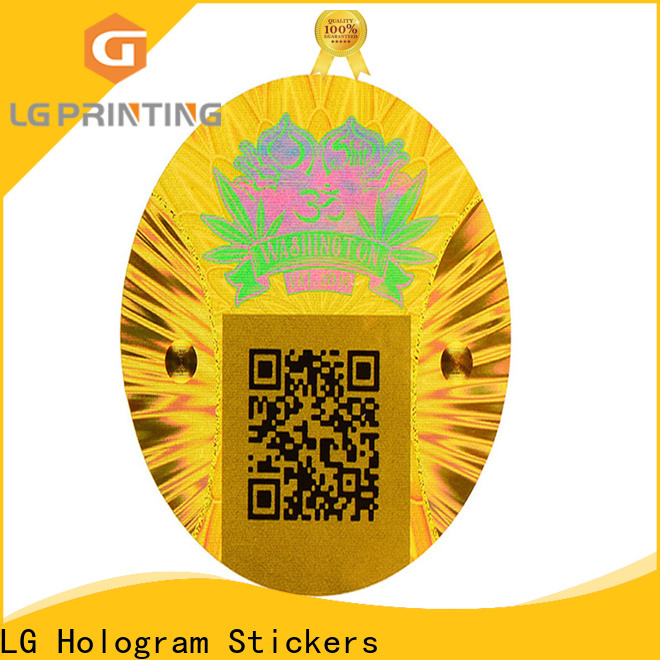 LG Printing void 3d hologram stickers series for table