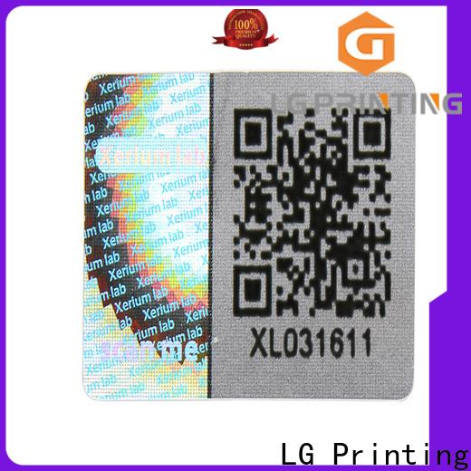 LG Printing golden hologram sticker logo for door