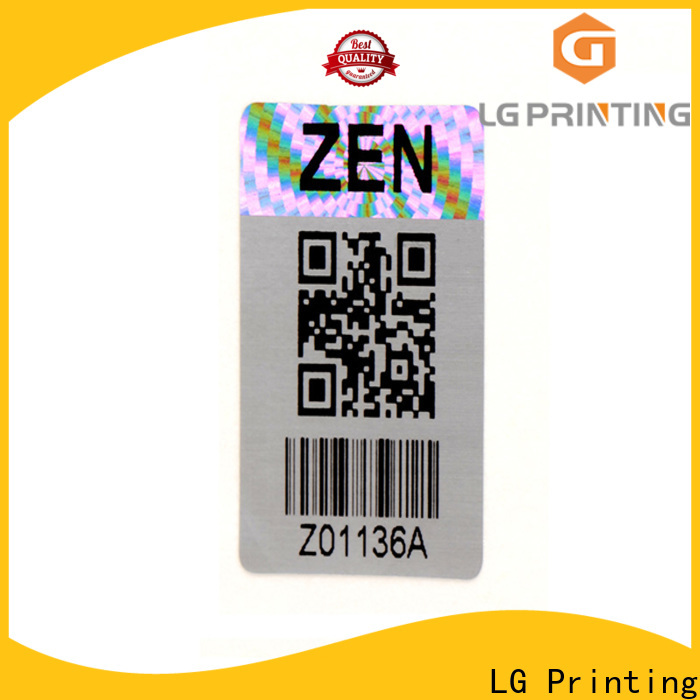 LG Printing colorful hologram sticker logo for table