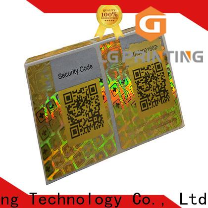 LG Printing round hologram sticker supplier series for door