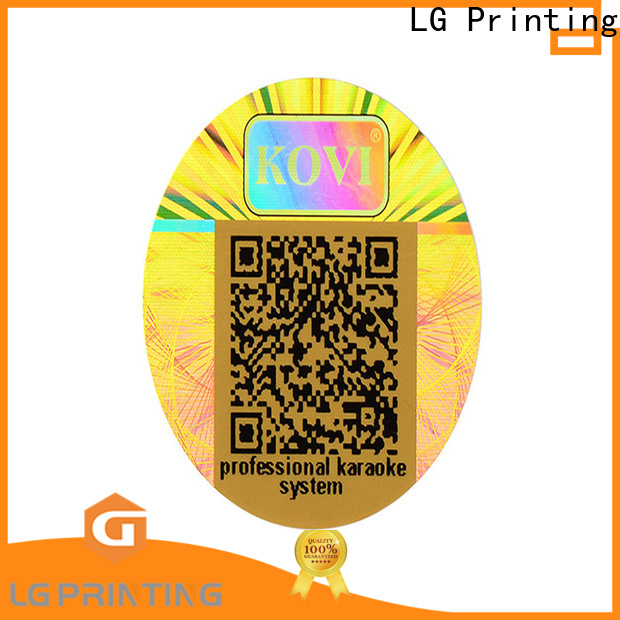 LG Printing various holographic foil stickers supplier for refrigerator
