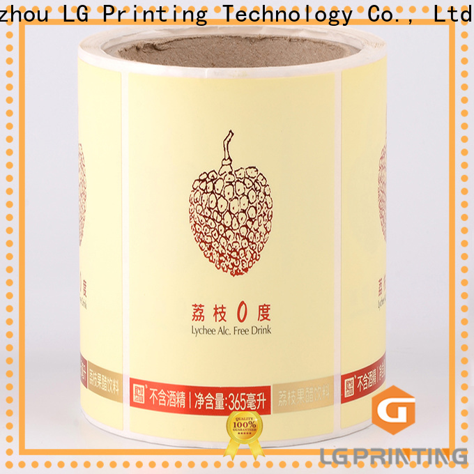 LG Printing pvc wholesale water bottle labels factory for wine bottle