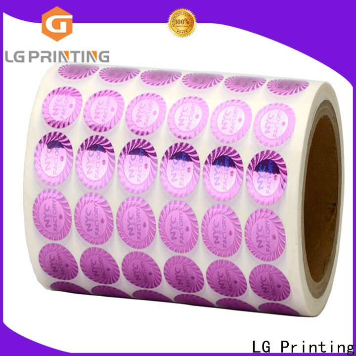 LG Printing round personalised holographic stickers series for table
