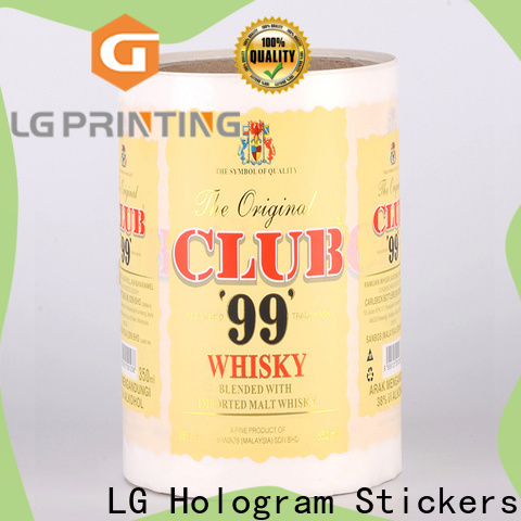 hologram sticker manufacturers red factory for cans