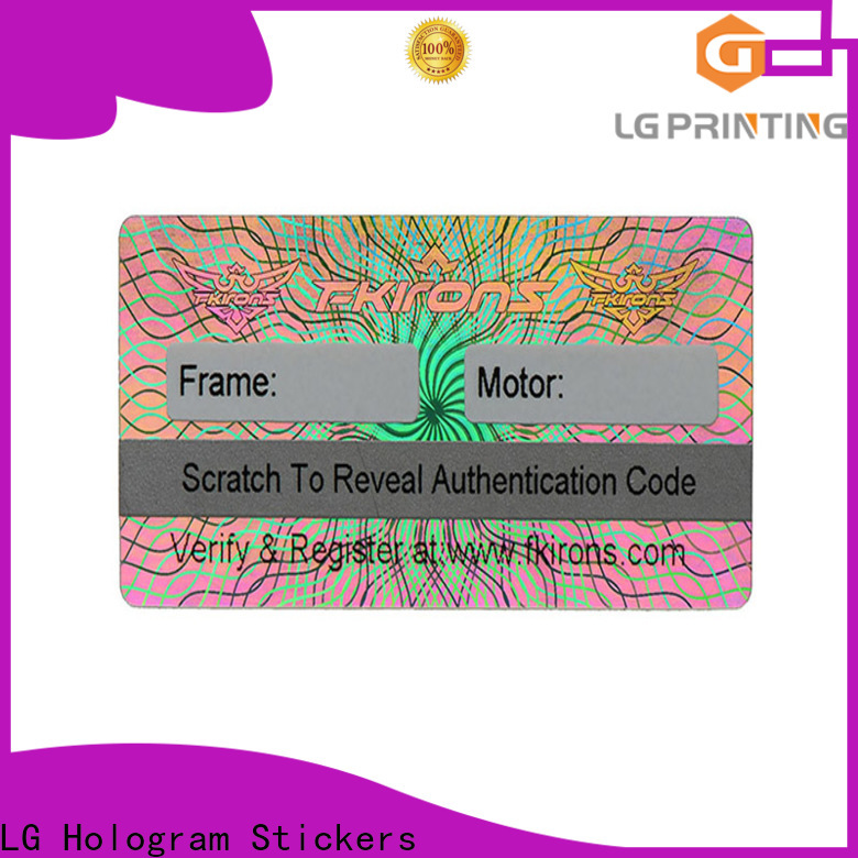 LG Printing silver design your own hologram sticker supplier for table