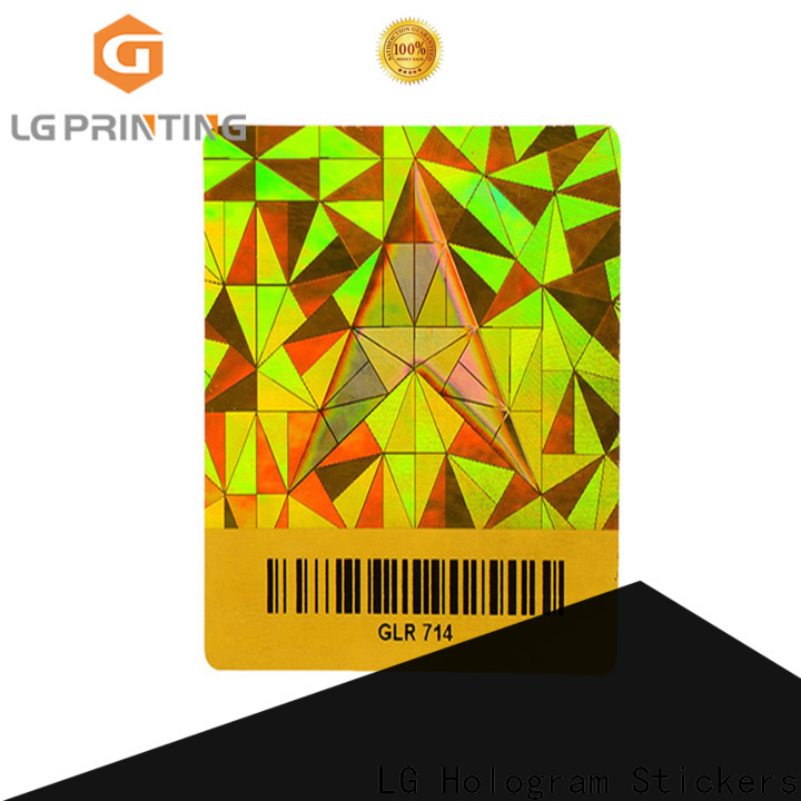 LG Printing scratched silver sticker paper label for refrigerator