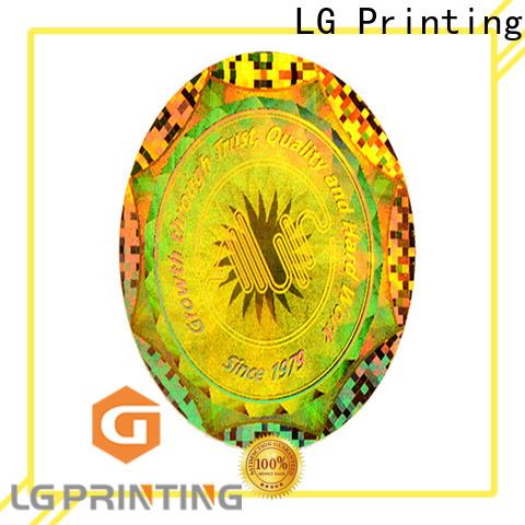 LG Printing sticker make a hologram sticker logo for table