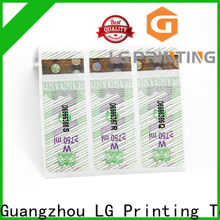 LG Printing Custom foil label printing manufacturers for goods