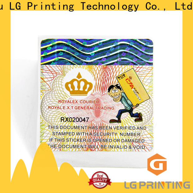 LG Printing Best custom printed sticker labels manufacturers for bag