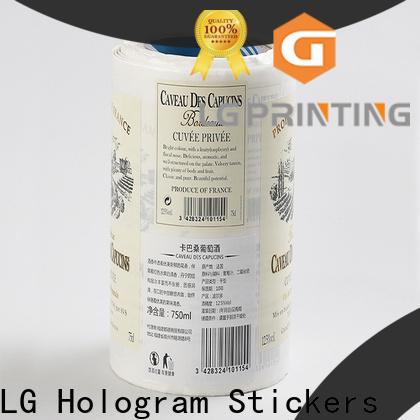 LG Printing waterproof best water bottle labels manufacturer for jars
