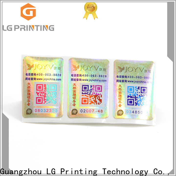 LG Printing Best custom void labels manufacturers for products