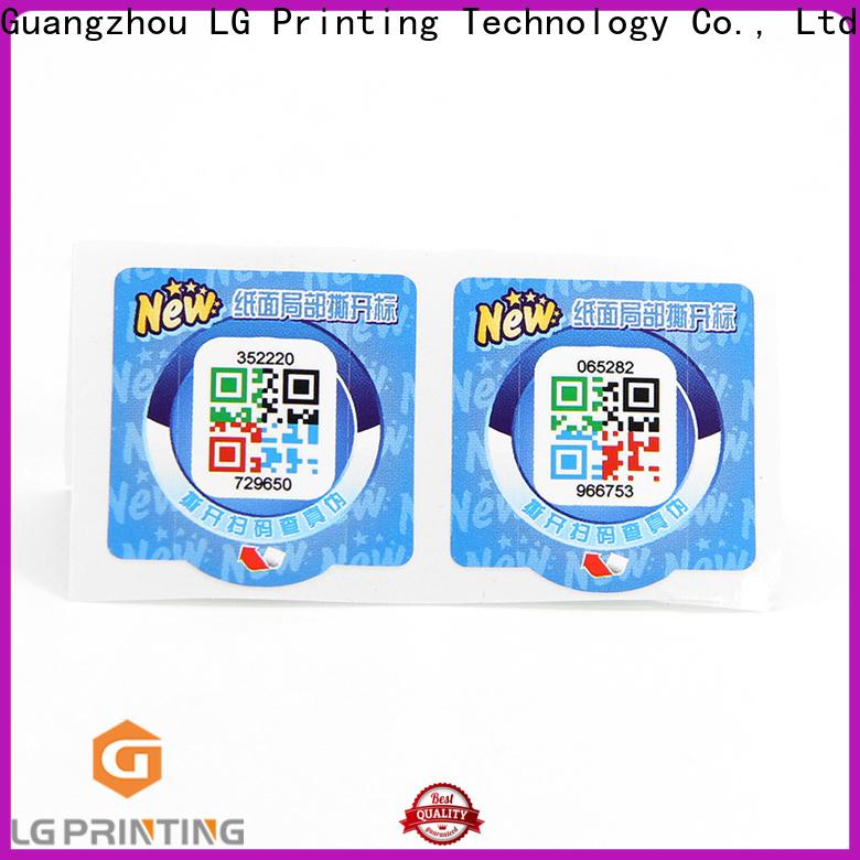 LG Printing Wholesale label self adhesive factory for box
