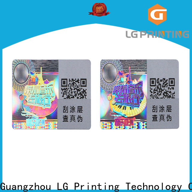 scratched hologram stickers manufacturers one time series for door