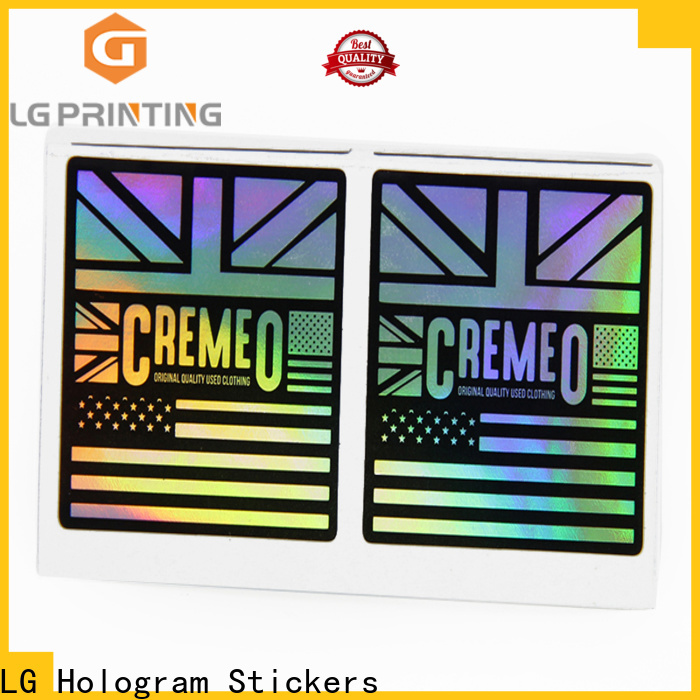 LG Printing High-quality holographic sticky back paper company