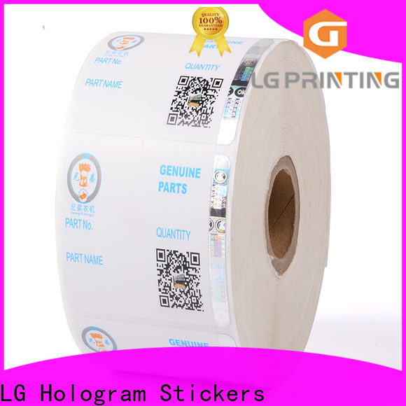 LG Printing stamping custom security stickers series for products