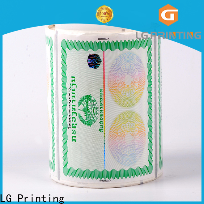 LG Printing printing holographic seal manufacturer for products