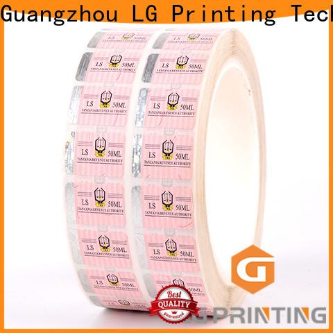 LG Printing serial hologram printing supplier for goods