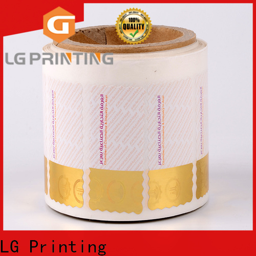 LG Printing silver hologram sticker factory for bag