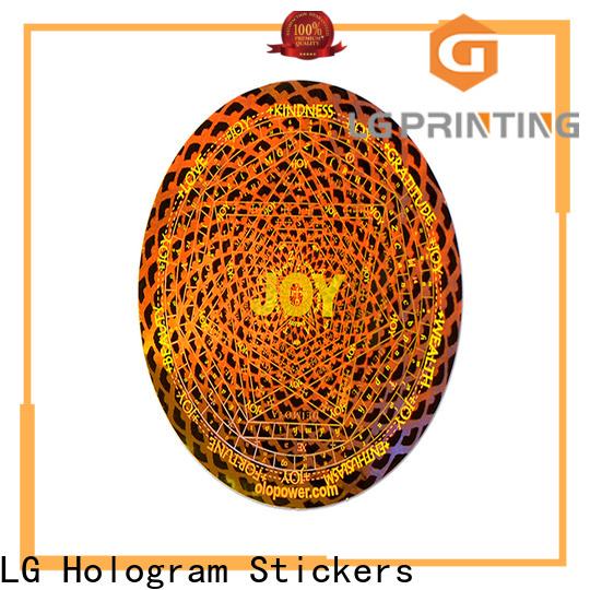 LG Printing scratched hologramm sticker logo for refrigerator