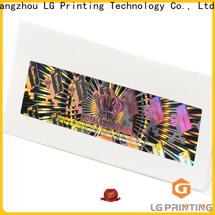 round hologram sticker sheet gold supplier for table