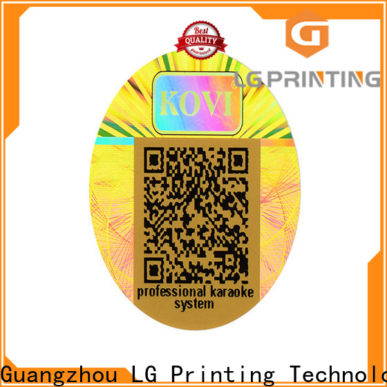 LG Printing colorful making hologram stickers manufacturer for box