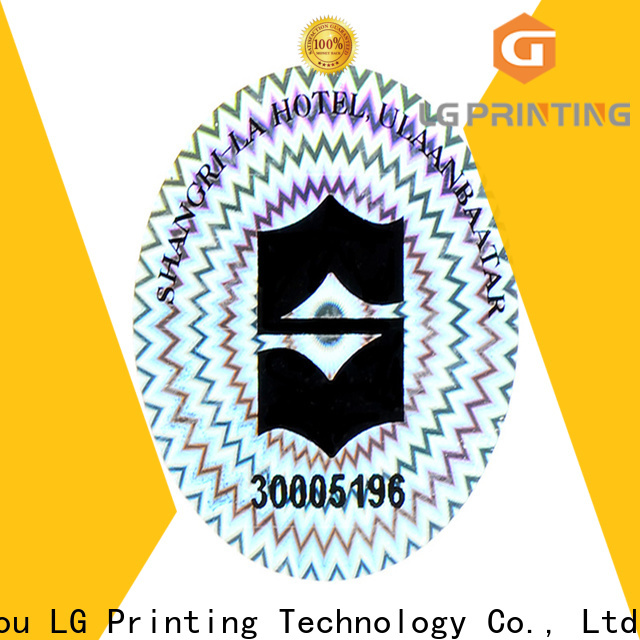 LG Printing round custom stickers holographic manufacturer for refrigerator