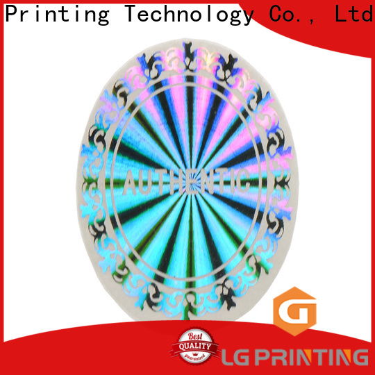 LG Printing void holo sticker manufacturer for table