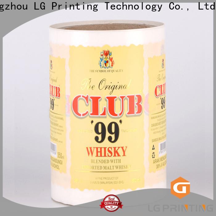 LG Printing printing customised bottle labels series for wine bottle