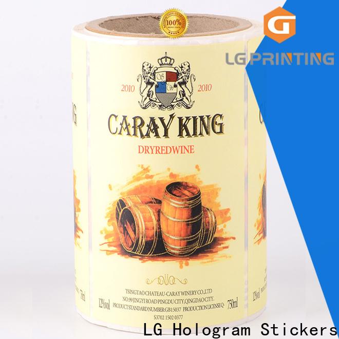 LG Printing hologram coke bottle label factory for cans