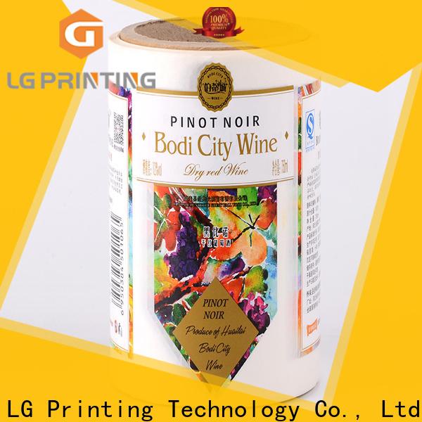 LG Printing bopp vinyl labels for roller bottles supplier for wine bottle