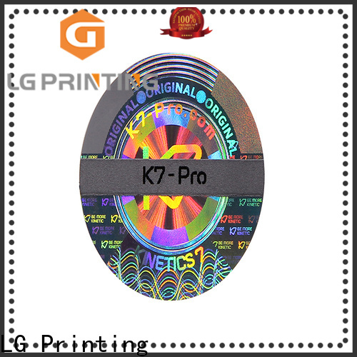 LG Printing various double layer label sticker supplier for table