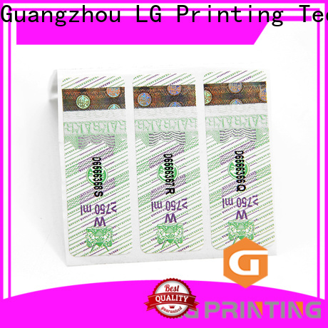 LG Printing holographic security stickers Suppliers for bag