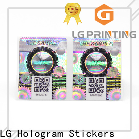 LG Printing Custom silver self adhesive labels for business for products