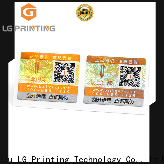 LG Printing hologram stickers uk factory for products