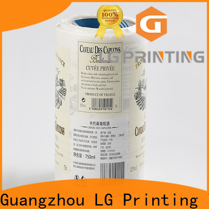 LG Printing silver cheap sticker printing series for cans