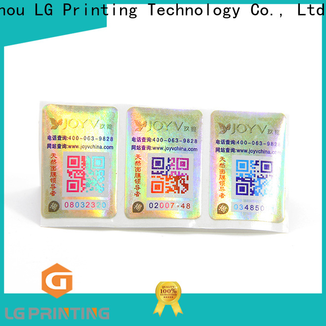 LG Printing lg label company for box