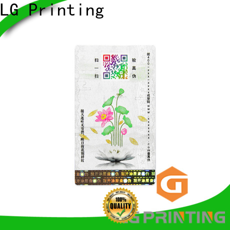 LG Printing Wholesale security label stickers manufacturers for goods