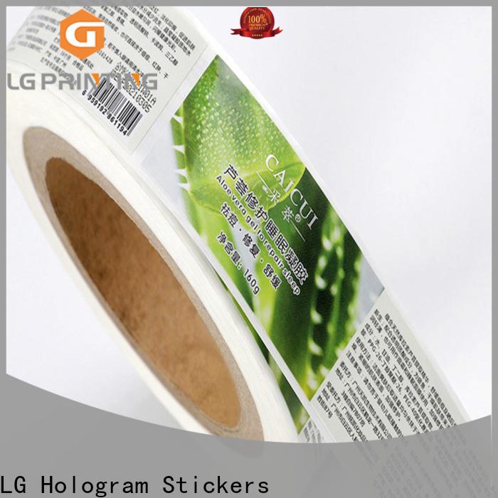 LG Printing foil sticker manufacturers supplier for jars