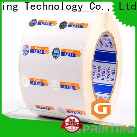 LG Printing stamping hologram printing supplier for goods