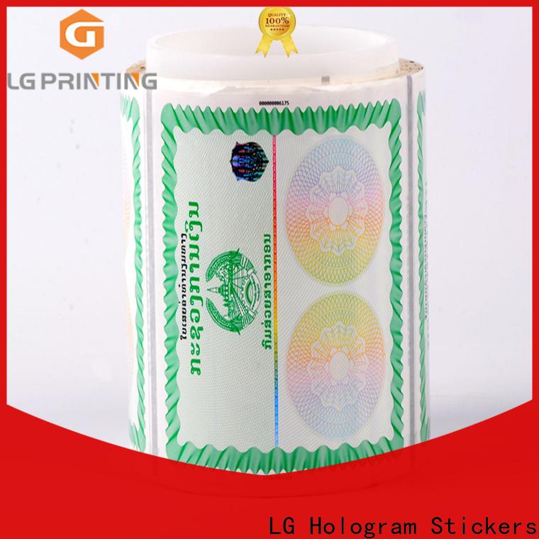 LG Printing fake hologram manufacturer manufacturer for box