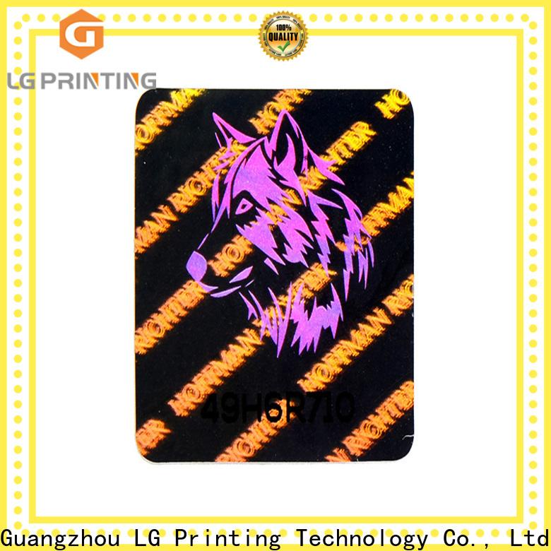 LG Printing various hologram seal series for box
