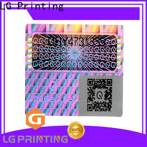 LG Printing one time hologram stickers dubai logo for door