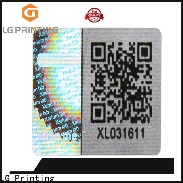 LG Printing scratched laser hologram sticker supplier for refrigerator