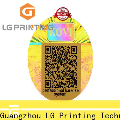 LG Printing silver hologramm sticker manufacturer for box