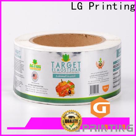 LG Printing gold self adhesive label series for jars